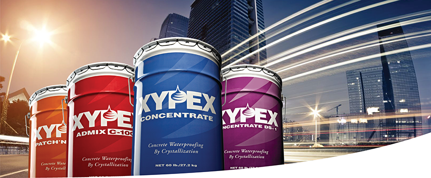 Xypex concrete waterproofing product line