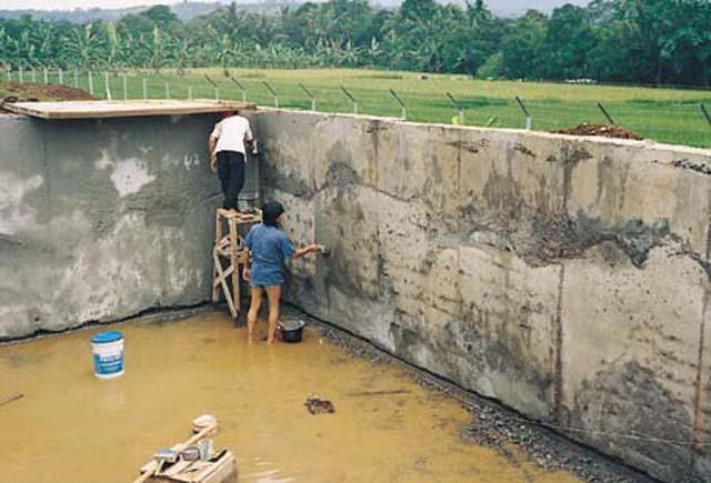 Waterproofing Water Tank : Water holding structures xypex concrete waterproofing